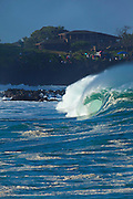 Waimea Bay, North Shore, Oahu, Hawaii Shorebreak, Waimea Bay, North Shore, Oahu, Hawaii