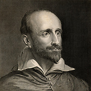 Guido Bentivoglio (1579-1644) Italian cardinal, statesman, diplomat and historian, born at Ferrara.  Engraving after the portrait by Van Dyke.
