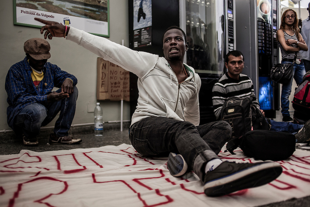 Refugees occupying Registry offices.