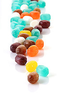 Colorfull candies on white background