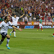 September 10, 2013:  US Men's National Team forward Landon Donovan (10) celebrates after scoring the second goal of the game during the  U.S. Men's National Team vs. Mexico National Team- World Cup Qualifier match at Columbus Crew Stadium - Columbus, OH.  The United States Men's National Team defeated The Mexico National Team 2-0 and clinched a spot for the  World Cup in Brazil. (Credit Image: © Kostas Lymperopoulos/ Sport Media)