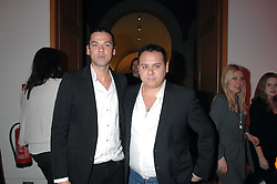 Photographers MERT ALAS & MARCUS PIGGOTT at the opening party for 'Face of Fashion' an exhibition of photographs by five of the World's leading fashion photographers held at the National Portrait Gallery, St.Martin's Lane, London on 12th February 2007.<br />