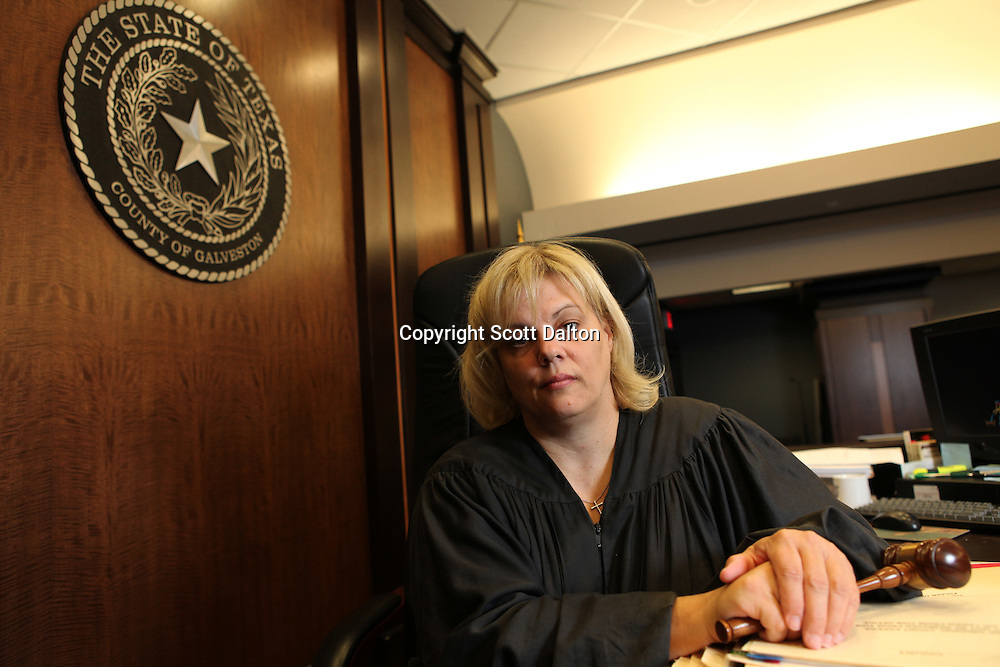 Judge Susan Criss in her courtroom in Galveston, Texas on Monday, August 17, 2009. Judge Criss used a social media site to catch a lawyer not being entirely truthful about the need for a delay in a case. (Photo/Scott Dalton)