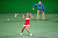 Monica Puig of Puerto Rico wins the Gold Medal in the Women's Tennis Singles on day eight of the XXXI 2016 Olympic Summer Games in Rio de Janeiro, Brazil.<br /> Picture by EXPA Pictures/Focus Images Ltd 07814482222<br /> 13/08/2016<br /> *** UK & IRELAND ONLY ***<br /> <br /> EXPA-EIB-160814-0006.jpg