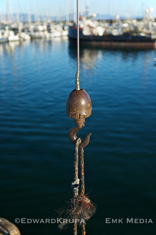 Winch hook in Santa Barbara, California.