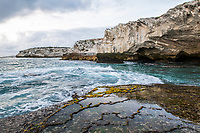 Rocky inter-tidal coastline at low tide, Arniston, Western Cape, South Africa