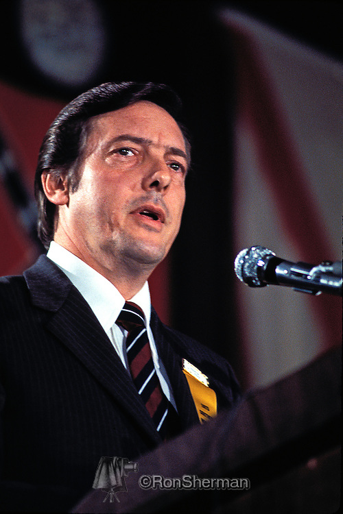 US Senator Bill Brock from Tennessee speaking at Southern Governors Conference in Atlanta GA 1973