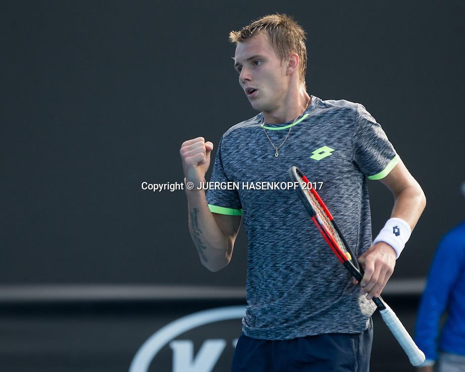 ALEXANDER BUBLIK (RUS) macht die Faust und jubelt,Jubel,Emotion,<br /> <br /> <br /> Australian Open 2017 -  Melbourne  Park - Melbourne - Victoria - Australia  - 16/01/2017.