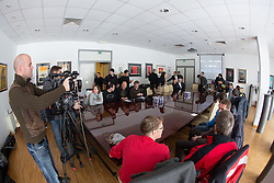 at press conference of HDD Olimpija about Winter Classic in Stadium Bezigrad called Bezigrad IceFest 2013 on December 10, 2012 in Hala Tivoli, Ljubljana, Slovenia. (Photo By Matic Klansek Velej / Sportida)
