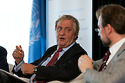 Interpeace launches the handbook: 'Constitution-making and reform: Options for the Process' a comprehensive resource for national constitution-makers and their advisors. Nicholas Haysom, Director of Political Affairs, Executive Office of the Secretary-General. The book release took place at the United Nations on September 9, 2011 in New York. The event was photographed for Interpeace by Jeffrey Holmes, event photographer New York.