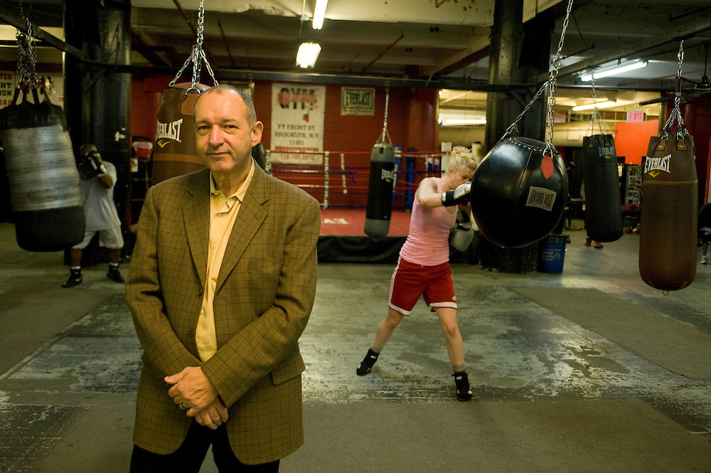 Gleason's Gym, Dumbo, Brooklyn, New York.Bruce Silverglade (center) is the president and driving force of Gleason's gym. ...