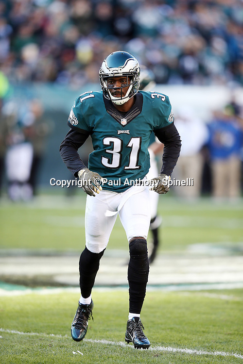Philadelphia Eagles cornerback Byron Maxwell (31) chases the action during the 2015 week 10 regular season NFL football game against the Miami Dolphins on Sunday, Nov. 15, 2015 in Philadelphia. The Dolphins won the game 20-19. (©Paul Anthony Spinelli)