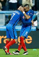 Dimitri Payet and Antoine Griezmann (France) goal celebrating. esultanza gol<br /> Paris 03-07-2016 Stade de France Football Euro2016 France - Iceland / Francia - Islanda Quarter finals <br /> Foto Matteo Ciambelli / Insidefoto