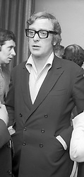 Actor MICHAEL CAINE at a party in London on 1st May 1970.