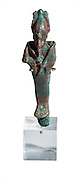 Egyptian Bronze Osiris. 6Th-4th century BC. On White Background