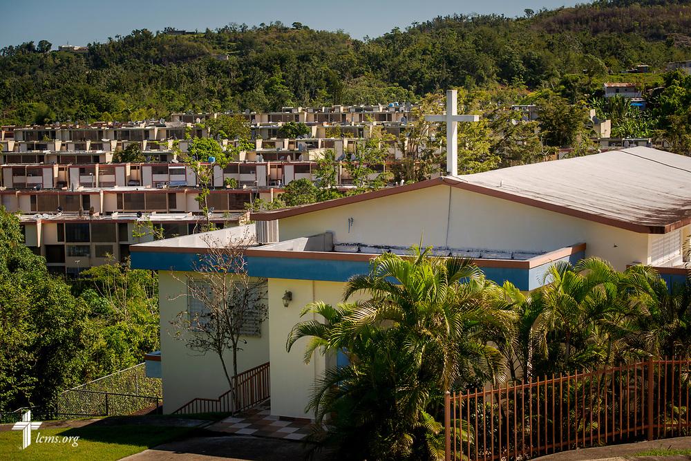 Exterior photograph of Iglesia Luterana Principe de Paz (Prince of Peace Lutheran Church), Mayagüez, Puerto Rico, on Sunday, April 15, 2018. LCMS Communications/Erik M. Lunsford