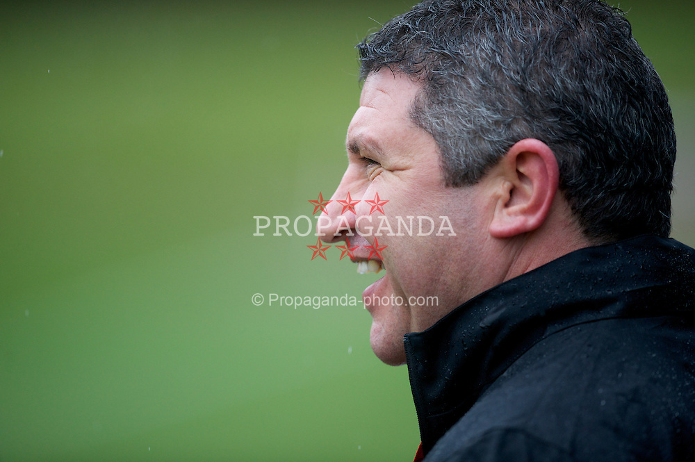 CARDIFF, WALES - Monday, February 27, 2012: Wales' coach Osian Roberts training at the Vale of Glamorgan ahead of the friendly match against Costa Rica. (Pic by David Rawcliffe/Propaganda)