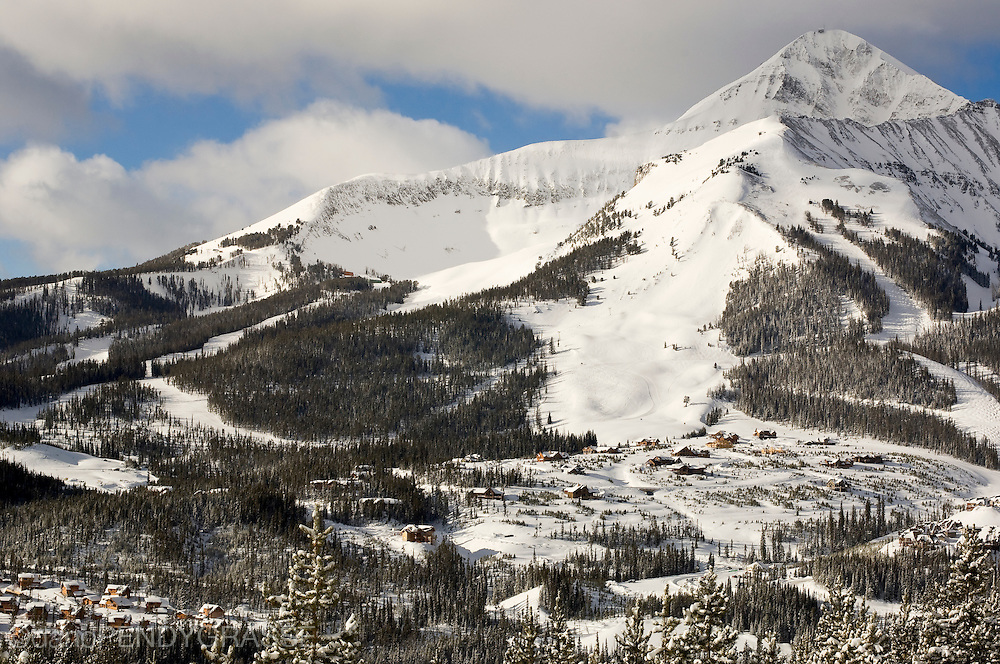 Big Sky Mountain, Montana, shows her face after a winter storm.