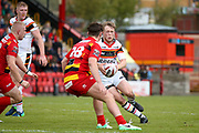 Bradford Bulls scrum half Cory Aston (41) in action  during the Kingstone Press Championship match between Dewsbury Rams and Bradford Bulls at the Tetley's Stadium, Dewsbury, United Kingdom on 10 September 2017. Photo by Simon Davies.
