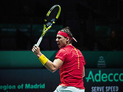 Spain vs Russia, Rafael Nadal of Spain during the Davis Cup 2019, Tennis Madrid Finals 2019 on November 19, 2019 at Caja Magica in Madrid, Spain - Photo Arturo Baldasano / ProSportsImages / DPPI