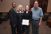 From left, Dr. Kent Smith, Jr., Becky Hartlige-Logan, Lauren H. Logan, Dave Logan.