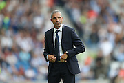 Brighton Manager, Chris Hughton during the EFL Sky Bet Championship match between Brighton and Hove Albion and Barnsley at the American Express Community Stadium, Brighton and Hove, England on 24 September 2016.