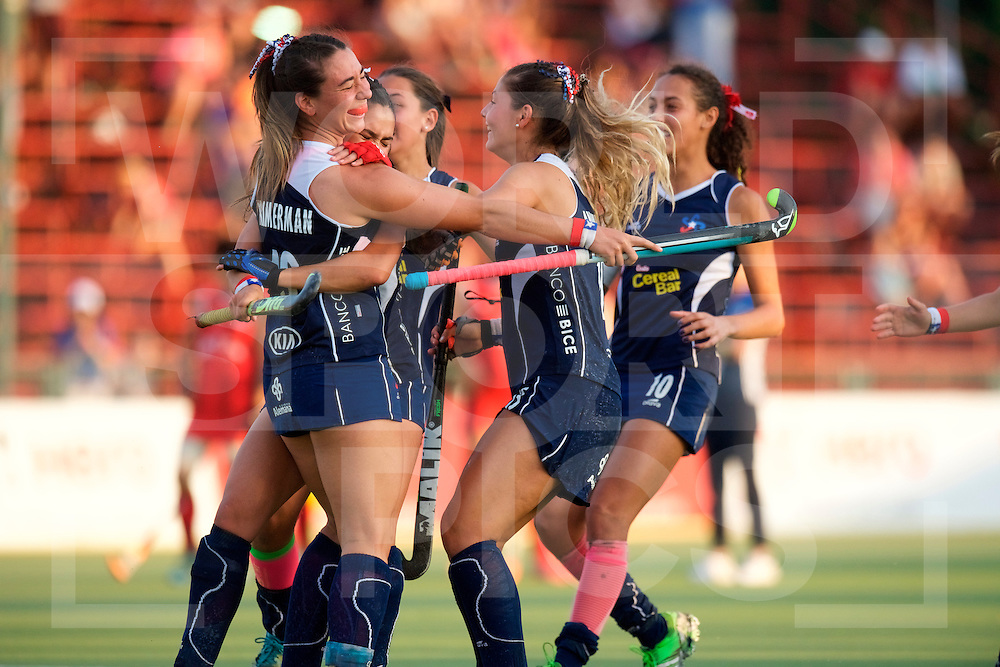 SANTIAGO - 2016 8th Women's Hockey Junior <br /> World Cup<br /> 41 KOR v CHI (11 / 12 Place)<br /> foto: Chile wins by wining shoot out.<br /> FFU PRESS AGENCY COPYRIGHT FRANK UIJLENBROEK
