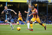 Bradford City midfielder Mark Marshall (7) dribbling during the EFL Sky Bet League 1 match between Southend United and Bradford City at Roots Hall, Southend, England on 19 November 2016. Photo by Matthew Redman.
