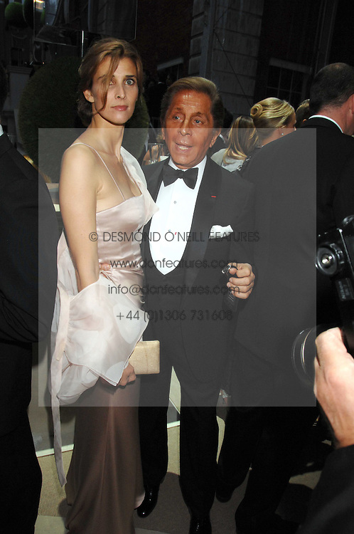 PRINCESS KYRIL OF BULGARIA and VALENTINO at the Ark 2007 charity gala at Marlborough House, Pall Mall, London SW1 on 11th May 2007.<br /><br />NON EXCLUSIVE - WORLD RIGHTS