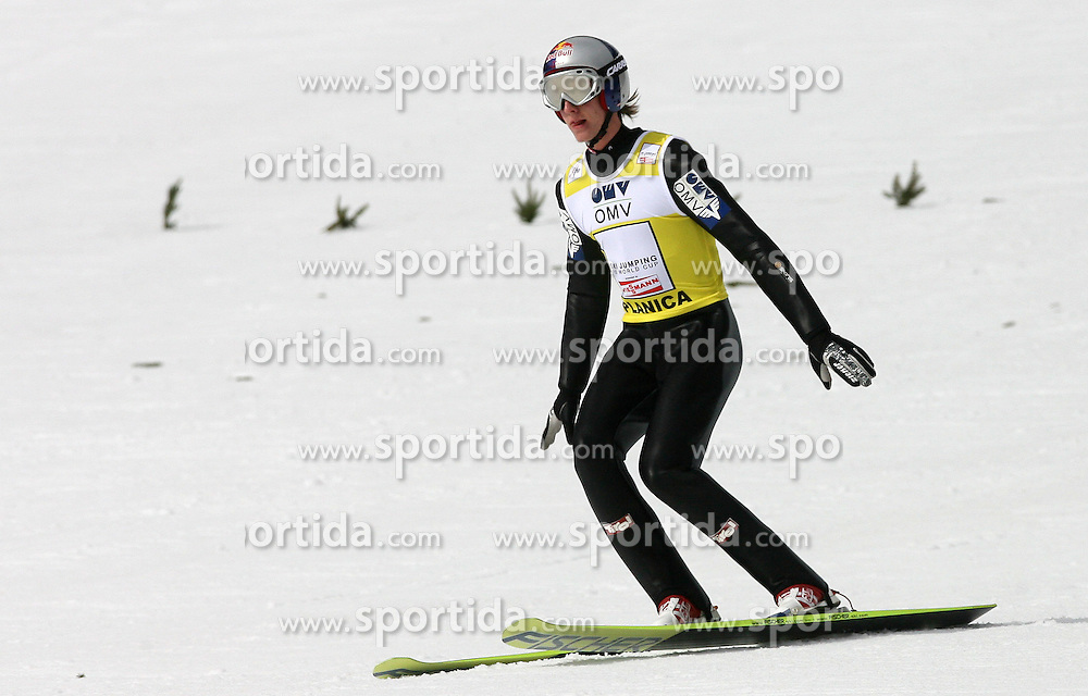 Gregor Schlierenzauer (AUT) at Qualification's 1st day of 32nd World Cup Competition of FIS World Cup Ski Jumping Final in Planica, Slovenia, on March 19, 2009. (Photo by Vid Ponikvar / Sportida)