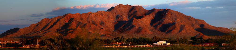 Panoramic view of San Tan Mountain
