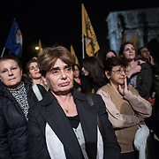 The Italian, Mexican, Tunisian caravan joined the demonstration against the death penalty taking place by the Coliseum in Rome. Those women have transformed their lost and pain into a collective of strong women that are searching for the truth and justice and travel the country knowing of others collective's problems