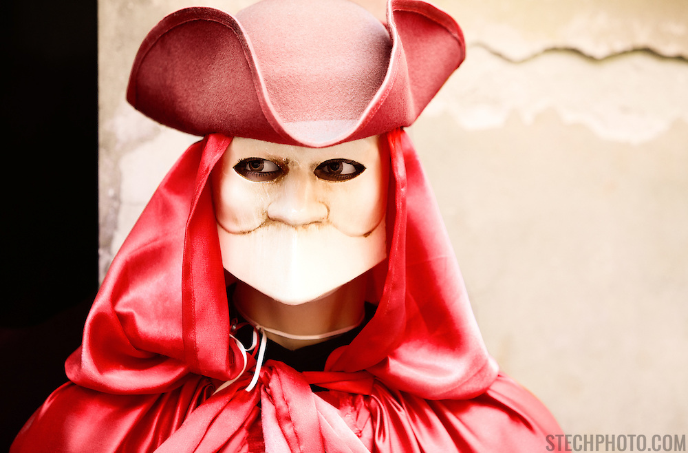 A mannequin wearing a venetian carnival costume and mask in Venice, Italy.<br /> <br /> + ART PRINTS +<br /> To order prints or cards of this image, visit:<br /> http://greg-stechishin.artistwebsites.com/featured/carnival-in-venice-greg-stechishin.html