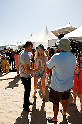 HUNTINGTON BEACH, CA - AUG  4: Supermodel Marisa Miller backstage at the U.S. Open of Surfing 2011 Walk the Walk finals.  Photo by Eduardo E. Silva