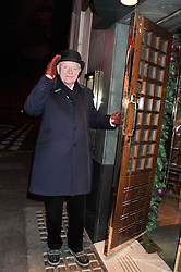 JULIAN GLOVER at One Night Only at The Ivy held at The Ivy, 1-5 West Street, London on 2nd December 2012.