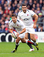 © Andrew Fosker / Seconds Left Images 2010 - England's Ben Youngs breaks with England's Nick Easter  in support - England v New Zealand All Blacks - Investec Challenge Series - 06/11/2010 - Twickenham Stadium  - London - All rights reserved..