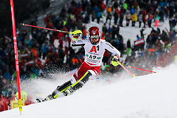 """29.01.2019, Planai, Schladming, AUT, FIS Weltcup Ski Alpin, Slalom, Herren, 1. Lauf, im Bild Johannes Strolz (AUT) // Johannes Strolz of Austria in action during his 1st run of men's Slalom """"the Nightrace"""" of FIS ski alpine world cup at the Planai in Schladming, Austria on 2019/01/29. EXPA Pictures © 2019, PhotoCredit: EXPA/ Martin Huber"""