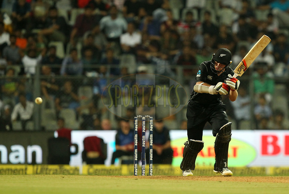 Tom Latham of New Zealand  during the 1st One Day International match between India and New Zealand held at the Wankhede Stadium in Mumbai on the 22nd October 2017Photo by Prashant Bhoot / BCCI / SPORTZPICS