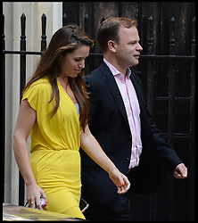 David Cameron's Spin Doctor Craig Oliver and David Cameron's Press secretary Susie Squire arriving for the National Security Council meeting on Syria at No10 Downing Street, London, United Kingdom. Wednesday, 28th August 2013. Picture by Andrew Parsons / i-Images