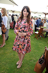 OPHELIA LOVIBOND at the Cartier Queen's Cup Polo Final, Guards Polo Club, Windsor Great Park, Berkshire, on 17th June 2012.