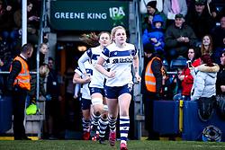 Lucie Skuse of Bristol Bears Women leads her side out at Worcester Warriors Women - Mandatory by-line: Robbie Stephenson/JMP - 01/12/2019 - RUGBY - Sixways Stadium - Worcester, England - Worcester Warriors Women v Bristol Bears Women - Tyrrells Premier 15s