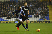 Birmingham City midfielder Jacques Maghoma in action during the Sky Bet Championship match between Birmingham City and Brentford at St Andrews, Birmingham, England on 2 January 2016. Photo by Alan Franklin.