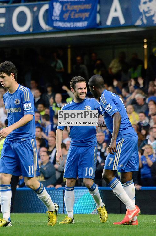 Juan Mata and Ramires celebrate their second goal. (c) Michael Hulf | StockPix.eu