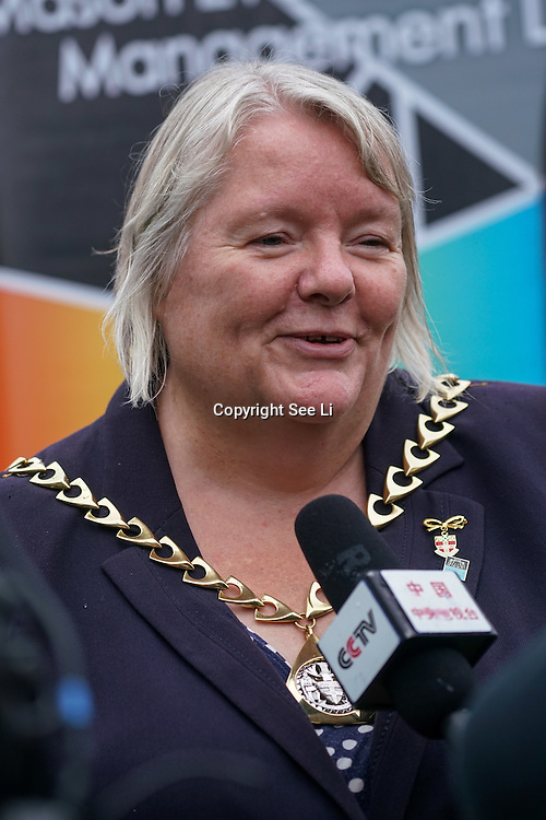London,England,UK, 19th Aug 2016 : Cllr Kath Whittam,Mayor of Southwark attend the 2016 Chinese Food Festival at Potters Fields Park,London,UK. Photo by See Li