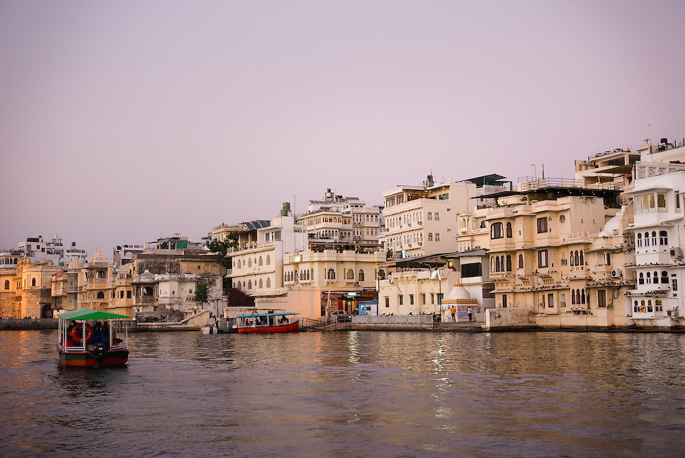 View of Udaipur from Lake Pichola