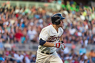 Justin Morneau #33 of the Minnesota Twins runs to 1st base against the Detroit Tigers on June 15, 2013 at Target Field in Minneapolis, Minnesota.  The Twins defeated the Tigers 6 to 3.  Photo: Ben Krause