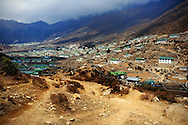 Nepal, Khumjung. View of Khumjung - one of the villages in the Everest region.