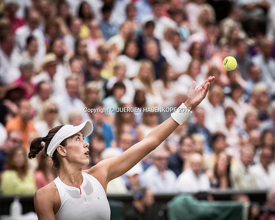 GARBI&Ntilde;E MUGURUZA (ESP), Endspiel, Final<br /> <br /> Tennis - Wimbledon 2016 - Grand Slam ITF / ATP / WTA -  AELTC - London -  - Great Britain  - 15 July 2017.