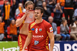 14-04-2019 NED: Achterhoek Orion - Draisma Dynamo, Doetinchem<br /> Orion win the fourth set and play the final round against Lycurgus. Dynamo won 2-3 / Freek de Weijer #8 of Dynamo