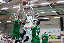 Dino Cinac of KK Krka during basketball match between KK Krka Novo mesto and  KK Petrol Olimpija in 2nd Final game of Liga Nova KBM za prvaka 2017/18, on May 22, 2018 in Sports hall Leona Stuklja, Novo mesto, Slovenia. Photo by Urban Urbanc / Sportida
